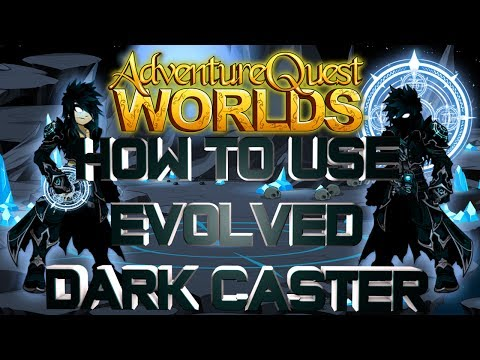 AQWorlds How To Use Evolved Dark Caster!