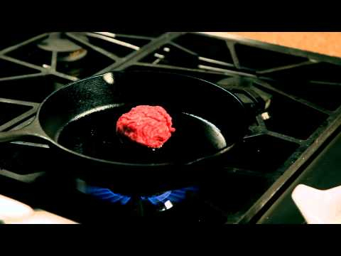 How to make a homemade burger &#8211; #11 &#8211; Adding the burger patties to the pan  Appetites