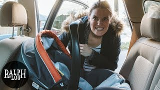 Installing Our Baby's Car Seat (She Got ANGRY!)