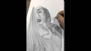 Hot Pencil drawing & Hot pencil sketch