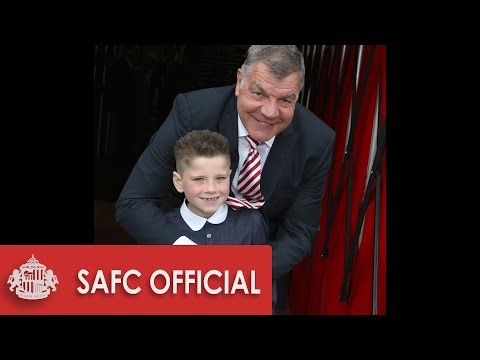 Young fan finally meets Sam Allardyce