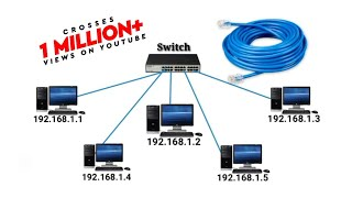 Create LAN Network, Connecting Computer in Networking or share the resources