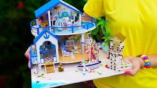 DIY Miniature Dollhouse With Pool