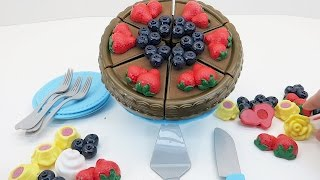 Toy Cutting Velcro Cakes | Birthday Cake for Kids
