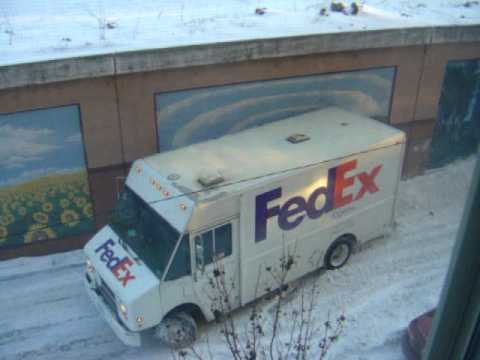 FedEx - Stuck in a winter snow storm in chicago