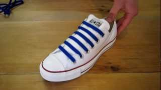 Bar Lacing Chuck Taylors with an Even Number of Eyelets