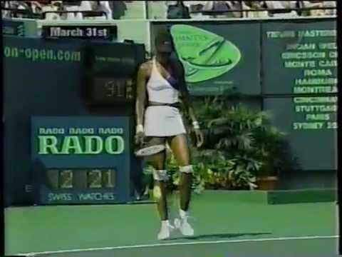2001 Miami final: Venus Williams vs Jennifer Capriati (end of match)