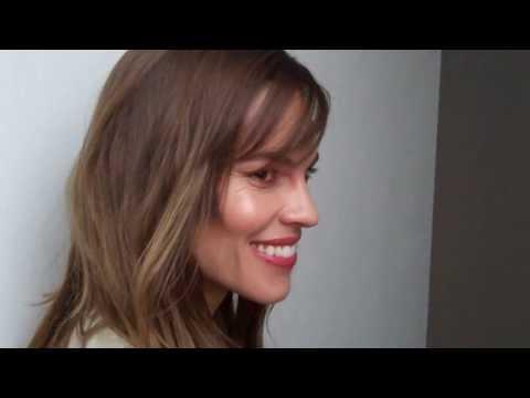 Edward Aydin interview Hilary Swank Milan Feb 2014 Pt 2