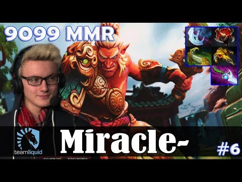 Miracle - Troll Warlord Safelane | 9099 MMR | Dota 2 Pro MMR  Gameplay #6