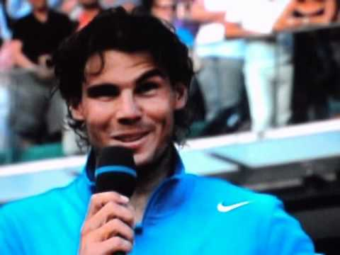 Winner Ceremony - Rafael Nadal wins French Open Final 2011