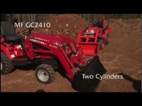 Massey Ferguson GC2410 vs. Kubota BX25