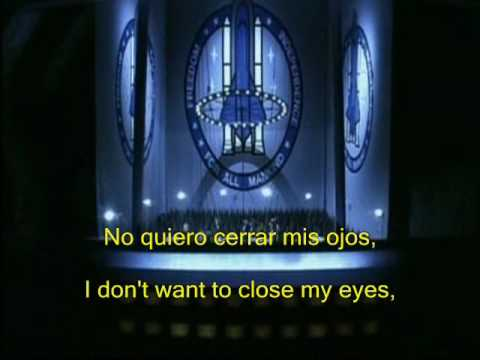 Aerosmith - I don't wanna miss a thing (sub. Español - Inlges)
