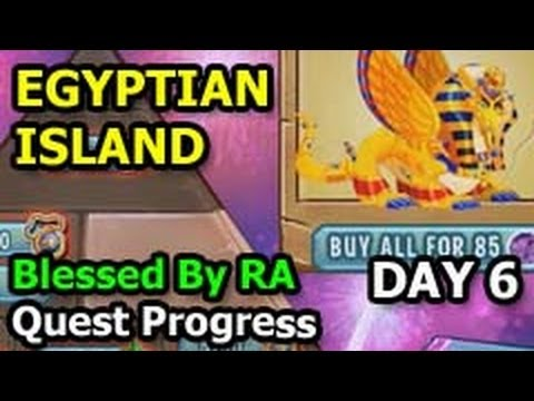 Dragon City EGYPTIAN ISLAND Blessed By RA Quest Progress Update DAY 6
