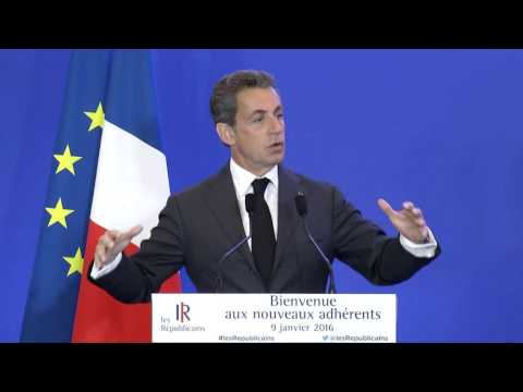 Discours de Nicolas Sarkozy à la réunion des nouveaux adhérents