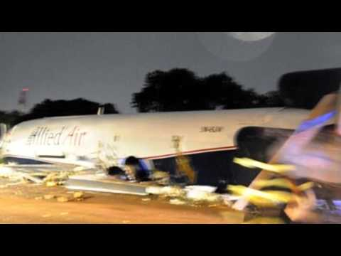 Cargo plane hits bus in Ghana airport crash.