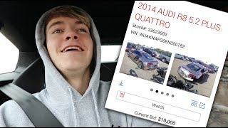 SHOULD I BUY MY WRECKED AUDI R8 BACK?! XD