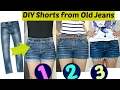 DIY: 3 Easy Ways to Turn Jeans Into Shorts || Shorts from Old Jeans MP3