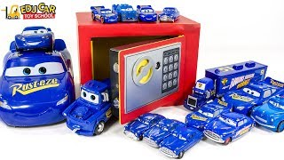 Learning Color Disney Pixar Cars Lightning McQueen Mack Truck Magic Safe box for kids car toys