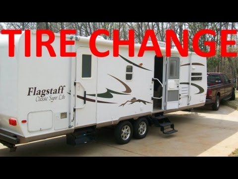 Travel Trailer Tire Change