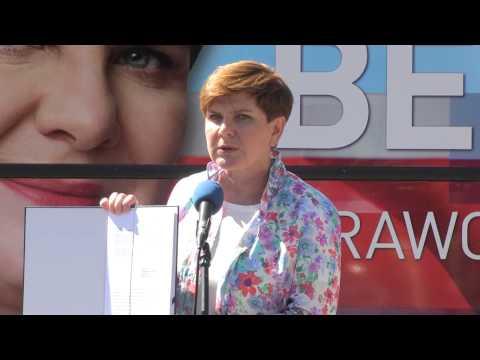 Beata Szydło - Konferencja Prasowa W Warszawie