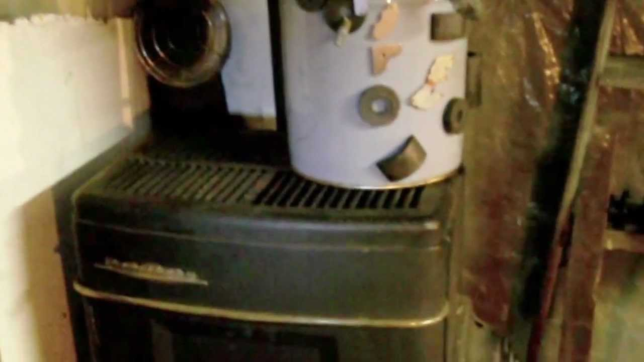 Homemade Waste Oil Space Heater Conversion Youtube