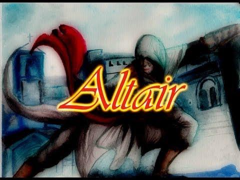 Dibujando a ALTAIR  (Assassins Creed) con Colores acuarelables Faber-Castell
