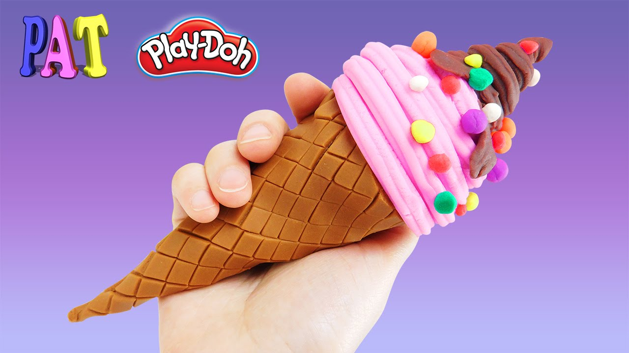 как мороженое из пластилина видео