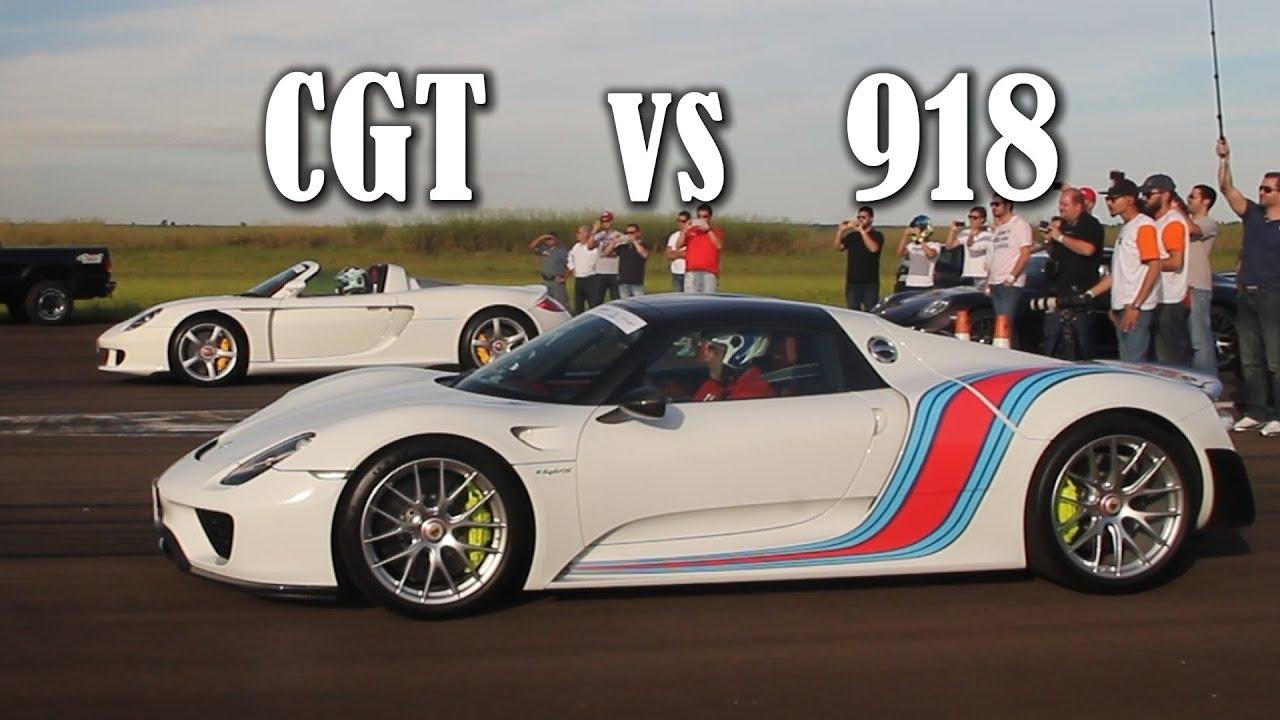 Porsche Carrera gt Carrera gt vs Porsche 918