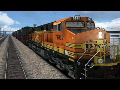 Train Simulator 2015 cargo mission. Hobart Dayshift, GE ES44DC, Pacific Surfliner series