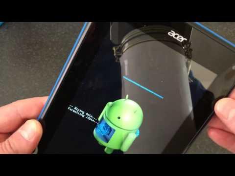 Acer Iconia B1 Hard Reset/Remove Password