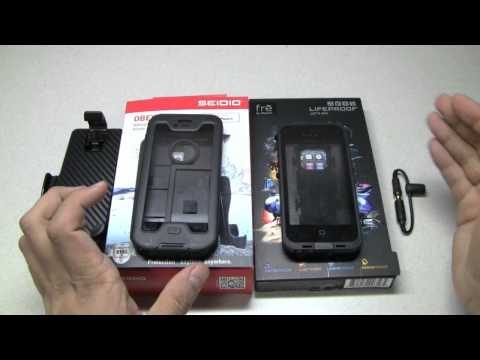 Lifeproof vs Obex iPhone 5 waterproof case comparison