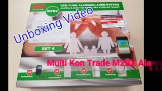 Multi Kon Trade M2BX GSM Funk Alarmanlage Set 4  Unboxing Video