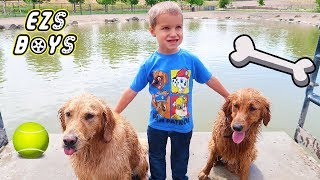 Earl The Funny Dog And Friends Go To The Dog Park!