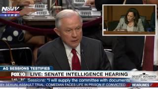 HEATED: Sen. Kamala Harris vs. AG Jeff Sessions - Senate Intelligence Committee Hearing (FNN)