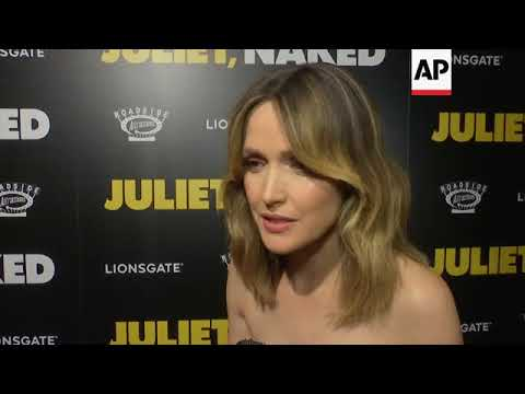 """On """"Juliet, Naked"""" Red Carpet Ethan Hawke, Chris O'Dowd, And Rose Byrne Express Their Feelings For T"""