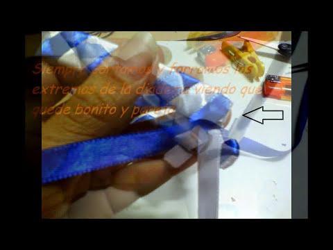Diadema o Cintillo Trenzado a 4 cintas