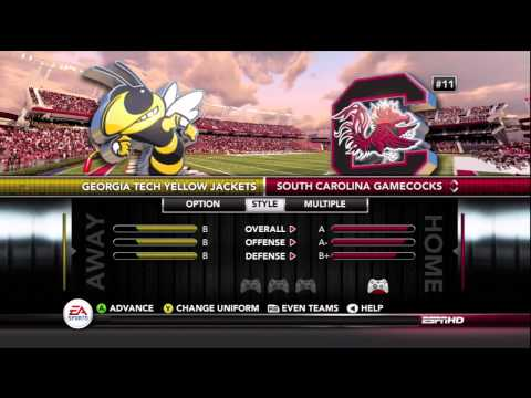 NCAA Football 13 Team Ratings & Rankings