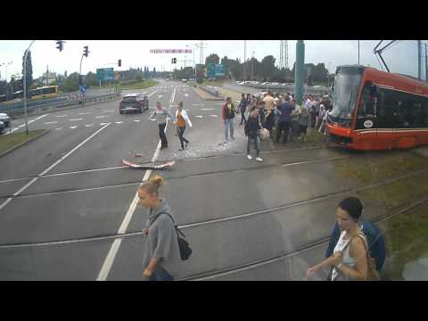 Gustlik Tramwaj Katowice Wypadek 12.09.2014
