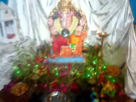 Vinay Jangam Home Ganpati Decoration In 2010 Mp4 Youtube