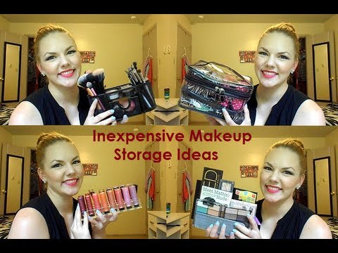 Inexpensive Makeup Storage Ideas