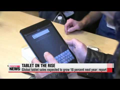 Global tablet sales to grow by 18 percent next year: SA