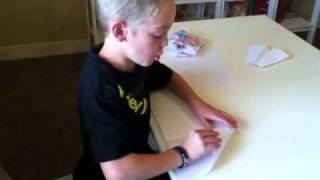 Ethan's Origami #1- 4 Awesome Paper Air Planes