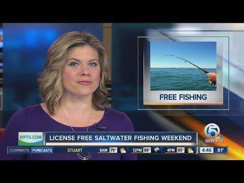 License free saltwater fishing weekend in Florida