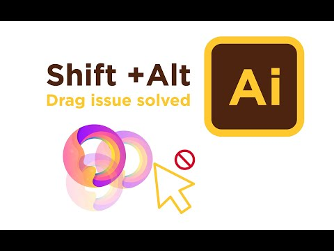 Adobe Illustrator Shift Drag issue solved 2020