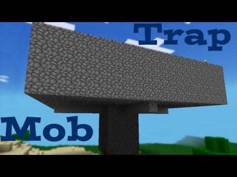 Cómo hacer una trampa de mobs en Minecraft Pocket Edition.