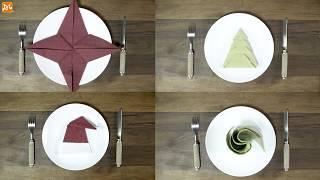 Mẹo Gấp Khăn Ăn Trang Trí Bàn Tiệc Nhanh Đẹp Đơn Giản | Hướng Nghiệp Á Âu