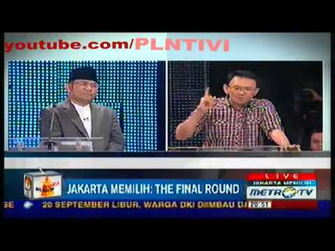 SERU, Debat Nachrowi (Nara) VS Basuki (Ahok). [Cawagubnya Foke Vs Jokowi] Metro Tv