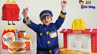 McDonalds Drive Thru Prank!  || McDonald Fun Pretend Play Toy Kitchen Set with Jai Bista Show