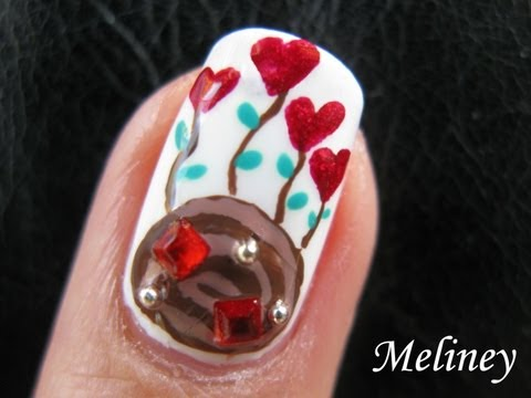 Valentine Mashup Nail Art Tutorial - Roses hearts Chocolates...