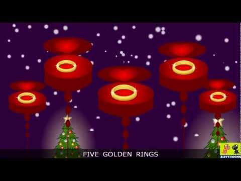 Nursery Rhymes | 12 Days Of Christmas | Animated Christmas Songs & Lyrics By ZippyToons TV